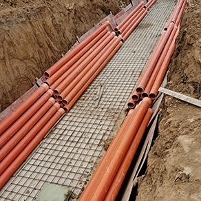 cpvc电力管施工现场